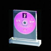 Buy cheap Acrylic Trophy for Best Seller of CD, Small Orders and Customized Designs are Welcome from wholesalers