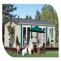 Buy cheap Foldable Portable Mobile House / Double Wide Mobile Homes With Green Material from wholesalers
