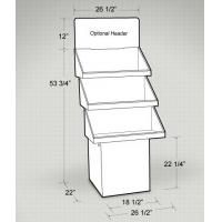 Buy cheap Custom Big 3 trays trapezoid cardboard floor display stand for Fruit from wholesalers