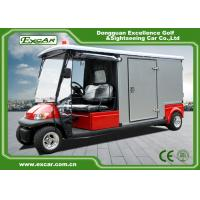 Buy cheap Red 2 Seater 48v Electric Ambulance Vehicle For Park 1 Year Warranty from wholesalers