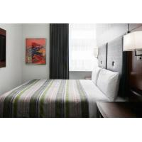 Buy cheap Hotel Bedroom Furniture Mahogany wood headboard Bed and Fixed Millwork TV Wall from wholesalers