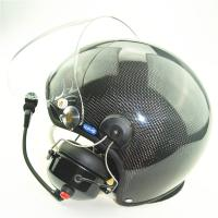 Buy cheap CE EN966 Carbon fiber Paramotor helmet with high noise cancel headset GD-C PPG helmet from wholesalers