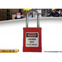 Buy cheap Safety Lockout Padlocks 38 Mm Steel Lock Shackle 53 Mm ABS Lock Body from wholesalers