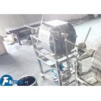 Buy cheap Full Stainless Steel Plate Frame Filter Press 0.15Mpa Pressure For Oil Treatment product