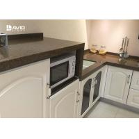 Buy cheap Brown Quartz Stone Countertops / Kitchen Worktops Flat Edge 2+2cm Laminated from wholesalers