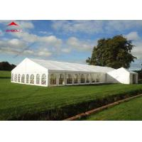 Buy cheap 300 Seater Outdoor Event Tent With Transparent PVC Window / Large Garden Wedding Tent from wholesalers