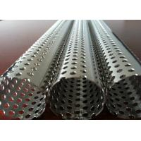Buy cheap Round Hole Stainless Steel Perforated Sheet Perforated Pipe Tube For Filter Cylinder from wholesalers
