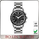 Buy cheap Waterproof Black Mens Metal Strap Watches , Elegant Mens Dress Watches from wholesalers
