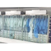 Buy cheap SUS Clean Room Equipments Garment Cabinet / Laminar Flow Dress Cabinet product