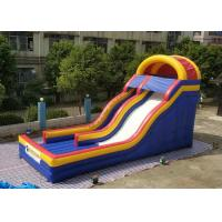 Buy cheap 0.55mm PVC Tarpaulin Colorful Large Inflatable Dry Slide For Kids / Blow Up Water Slide from wholesalers