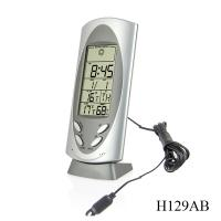 Buy cheap Outdoor &  Indoor, Alarm & Snooze Digital Thermometers H129AB with 12/24hr Time Display product