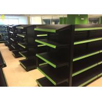 Buy cheap Black Colour Supermarket Gondola Shelves Perforated Middle Back Panel 1.8M High from wholesalers