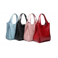 Buy cheap Soft Real Leather Shoulder Bag , Colored Shoulder Strap Bags 31.5cm Height from wholesalers