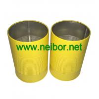 Buy cheap personalized round metal tin pen holder with raised rings from wholesalers