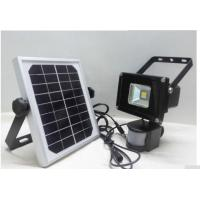 Buy cheap LED PIR 20w Flood light with solar panel for security park lamp LED high power spot light from wholesalers