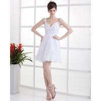 Buy cheap Lace V Neck Short Party Wear Dresses , Ladies evening party dresses from wholesalers