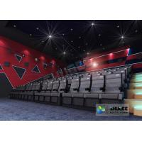 Buy cheap Black Electric 4D Movie Theater Seats With Safety Belt , Footrest product