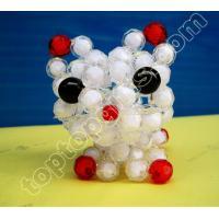 Buy cheap handmade acrylic beaded kitten plastic beads cat decoration product