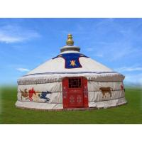 Buy cheap 4m Diameter Mongolian Domed Tent / Yurt Camping Tent For Living Or Catering from wholesalers