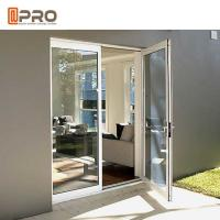 Buy cheap Custom Residential Aluminium Hinged Doors , Single Casement Bulletproof Glass Security Door from wholesalers