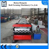 Buy cheap Automatic Floor Deck Roll Forming Machine PLC Control System 980mm Cover Width from wholesalers