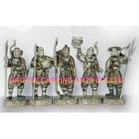 Buy cheap Bone samurai warriors statues bone fisherman figurines bone carvings product