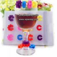 Buy cheap Promotional gift silicone wine glass mark for Christmas decoration from wholesalers