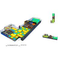 Buy cheap 836 M2 Trampoline Attraction Multi Game Indoor Playground Trampoline World from wholesalers