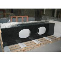 Buy cheap Black Galaxy Granite Tiles Countertop , Natural Solid Surface Kitchen Countertops from wholesalers