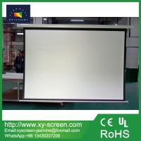 Buy cheap Manual Pull Down Projection Screen Wall Projector Screen for Business Education from wholesalers