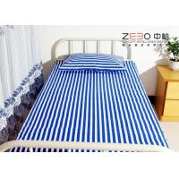 Buy cheap 3cm Jacquard Fabric Hospital Bed Sheet With Quality Test 40s Yarn Count from wholesalers