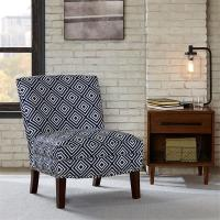 Bronc Floral Accent Chair SunroomWith Individually Placed Silver Nail Heads