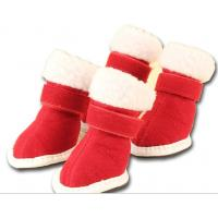 Buy cheap Puppy Cozy Boot Red Pet dog shoes M / L for Cute Chrismas Santa from wholesalers