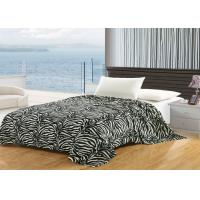 Printed Zebra Cotton Flannel Sheet Blanket , Wrinkle Resistant Flannel Baby Blanket