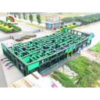 Buy cheap Green / Blue Inflatable Obstacle Course Giant Laser Maze PVC Inflatable Sports Games from wholesalers