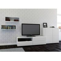 Buy cheap Pure White High Gloss Entertainment Wall Unit Furniture Mounted Showcase And TV Unit from wholesalers