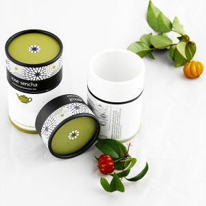 Buy cheap Matt lamination Biodegradable Printed Paper Tube Tea Packaging , gift tube box product