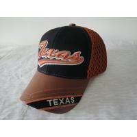 China 3D Embroidery Logo Fashion Mens Baseball Hats With Adjustable Velcro on sale
