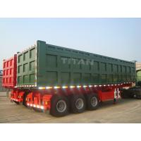 Buy cheap TITAN VEHICLE 3 axle 80 tons 42 CBM semi dump trucks for sale  from wholesalers