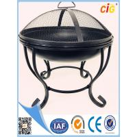 Buy cheap Round steel metal Patio Brazier fire pit covers with lid and 4 legs Customized Size product