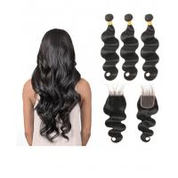 Buy cheap Middle Part 100% Peruvian Body Wave Hair Bundles Full And Thick from wholesalers