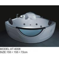 Buy cheap White color Air Bubble Bathtubs Quadrant Shape massage tubs 155 x 155 X 72 from wholesalers