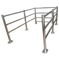 Buy cheap Stainless Steel Crowd pedestrian control /Cheap metal guard rails tubular Removable Handrail from wholesalers