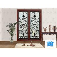 Mosaic Metal Front Doors With Glass Custom Spray Coating Hot Dip Galvanize