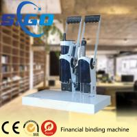 Buy cheap SIGO-DK50 white color metal cover  financial binding machine factory directly supply made in China good quality from wholesalers