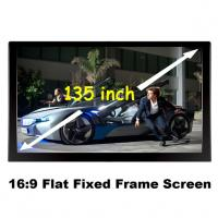 Buy cheap Best Supplier 135 Inch Curved Fixed Frame 3D Projection Screens Good Quality For Projector from wholesalers
