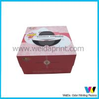 China Art Paper Wedding Birthday Cake Packaging Boxes With Plastic Window on sale