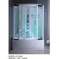 Buy cheap 84 X 150 X 210 / cm square shower cabin , film back panel one wall shower enclosures from wholesalers