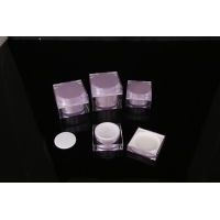 Buy cheap hand lip crystal pump empty square white Screen Printing Airless 30ml Cosmetic Cream Jars product