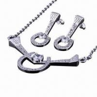 Buy cheap Sterling 925 Silver Jewelry Set, Includes Necklace and Earrings from wholesalers